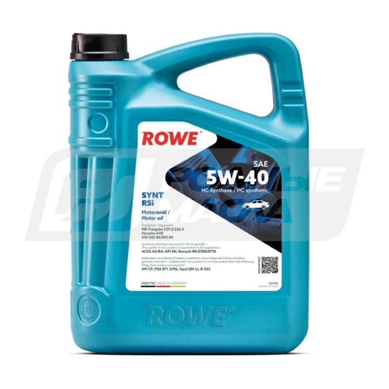 ROWE HIGHTEC SYNT RSi 5W40, 4л 20068-0040